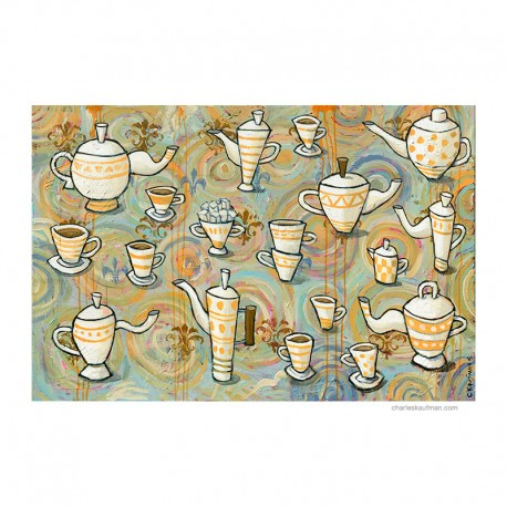 "Painting: ""Coffee or Tea"""
