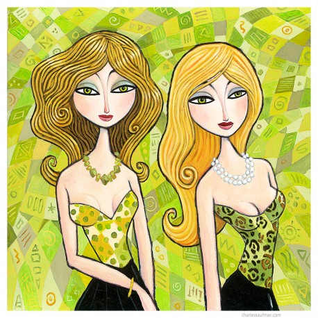 """Giclée Print on Canvas: """"Blonde and Green"""""""