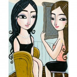 """Giclée Print on Canvas: """"Looking into the Mirror"""""""