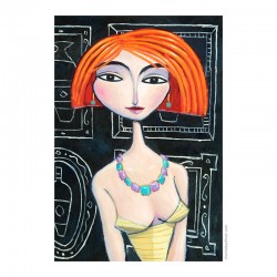 "Giclée Print on Canvas: ""I Met Her in Paris"""