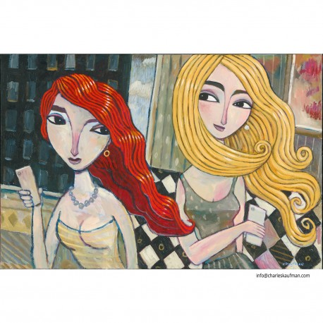 """Giclée Print on Canvas: """"In a Hotel."""""""