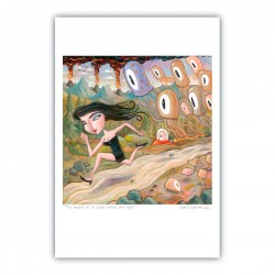 """Giclée Print on Fine Art Paper: """"The Invasion of the Octopus Zombies from Mars"""""""