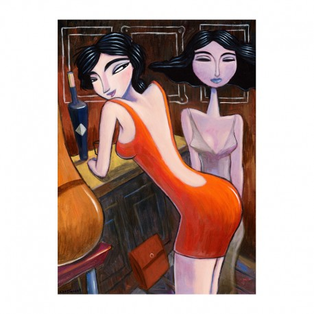 "Giclée Print on Canvas: ""Nightlife"""