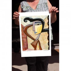 "Giclée Print on Fine Art Paper: ""Black Hair""."