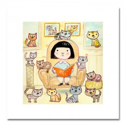 "Giclée Print on Fine Art Paper: ""Girl Reading a Book""."