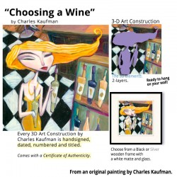 "Small 3D Graphic: ""Choosing a  Wine"""
