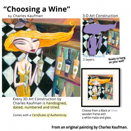 """Small 3D Graphic: """"Choosing a  Wine"""""""