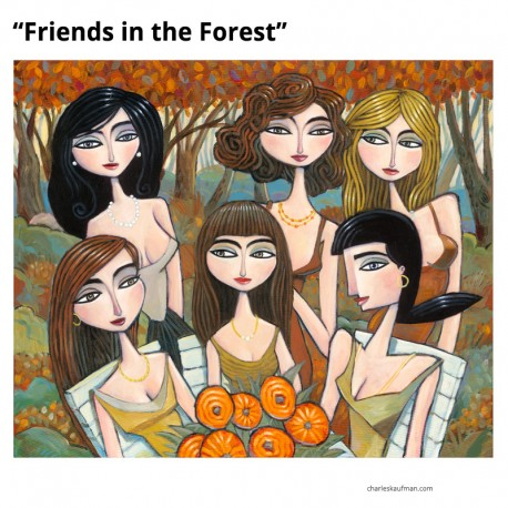 "3D Graphic: ""Friends in the Forest"""