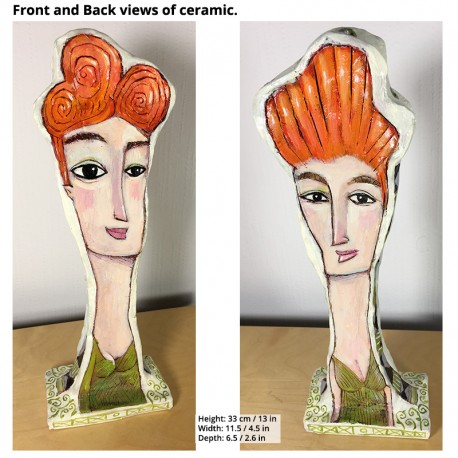 "Sculpture: ""Women with Orange Hair"""