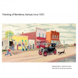 "Giclée Print on Fine Art Paper: ""Bendena Kansas 1927""."
