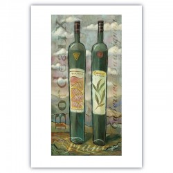 "Giclée Print on Fine Art Paper: ""Bordeaux and Cabernet Sauvignon""."