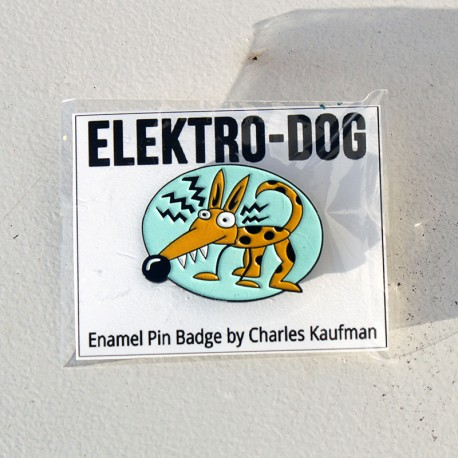 """Elektro-Dog"" Emaille Pin"