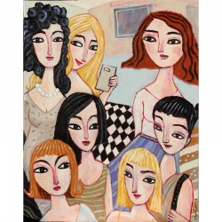 "Giclée Print on Canvas: ""Seven Friends"""
