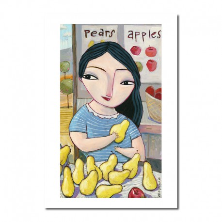 """Giclée Print on Fine Art Paper: """"Apples and Pears"""""""