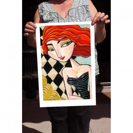 "Giclée Print on Fine Art Paper: ""Red Hair, Green Eyes"""