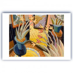 "Giclée Print on Fine Art Paper: ""Plants in a Room"""