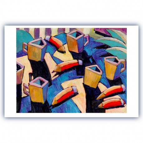 "Giclée Print on Fine Art Paper: ""Pencils and Cups"""