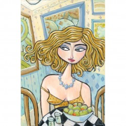 "Giclée Print on Canvas: ""Where's the Fork?"""