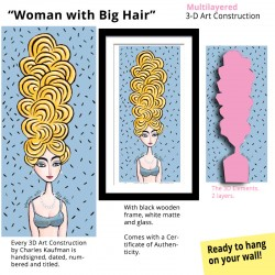 "3D Graphic: ""Woman with Big Hair"""