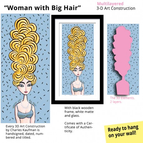 """3D Graphic: """"Woman with Big Hair"""""""