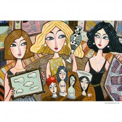 "Giclée Print on Canvas: ""The Art Collectors"""