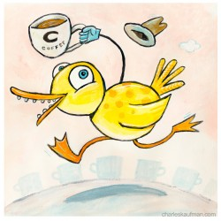 """3D Graphic: """"Coffee Duck"""""""
