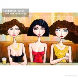 "Giclée Print on Canvas: ""Three in a Row, One in the Middle"""
