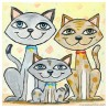 "3D Graphic: ""Three Happy Cats"""