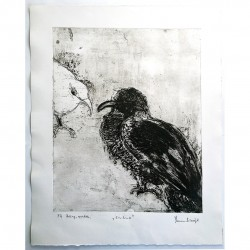 "Etching by Yasmina S: ""Enamo"" (In Love)."