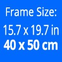 Frame size: 15.8 x 19.7 inches / 40 x 50 cm.