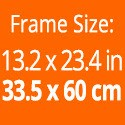 Frame size: 13.2 x 23.4 inches / 33.5 x 60 cm.